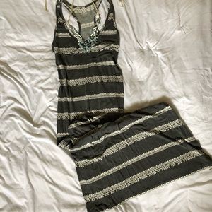 Grey Tribal Maxi Dress